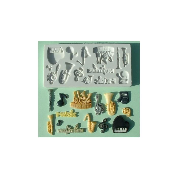 Stampo in silicone numeri strumenti musicali
